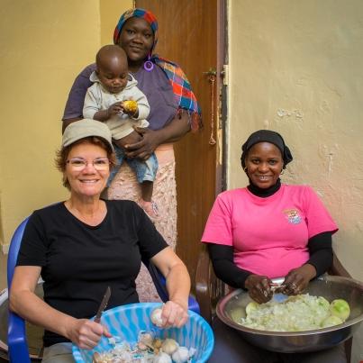 Louise, Fatou et son bébé, Aminata