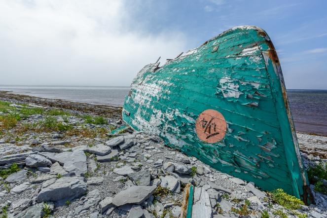Canon échoué à la Baie Ste-Claire
