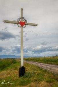 Croix de chemin dans le haut marais.